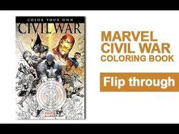 civil war coloring book flip marvel avengers captain