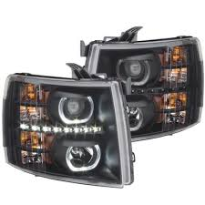 2008 chevy silverado led tail lights chevy silverado 2007 2013 black halo led drl projector headlights