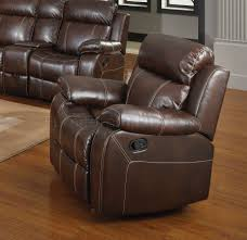Motion Leather Sofa Motion Sofa 603021 In Bonded Leather Match By Coaster