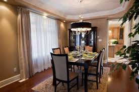 beautiful curtain for sweet dining room design comfort dining