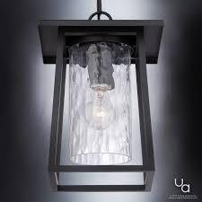 craftsman outdoor pendant light uql1094 craftsman outdoor pendant light 13 5 h x 9 5 w black silk