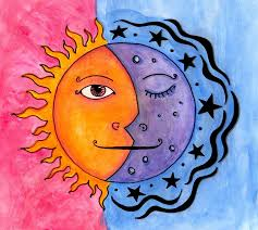 sun and moon painting by kauffman