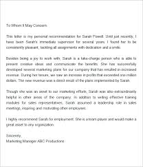 brilliant ideas of sample recommendation letter for retail