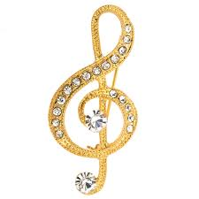 s jewelry golden note pin brooch fantasyard costume jewelry