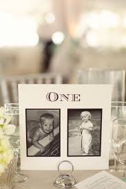 table numbers with pictures personalised wedding table number ideas photos of bride groom at