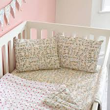 Sofa Bed Fitted Sheet Floral Cot Bed Fitted Sheet By Lulu And Nat Notonthehighstreet Com