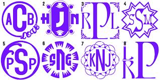3 letter monogram monogram decals 3 letter crafty catharsis
