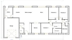 plan de maison plain pied 3 chambres plan maison plein pied 120m2 idées décoration intérieure