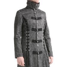 long grey gothic jacket for men crazyinlove uk