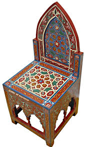 handpainted moroccan chairs