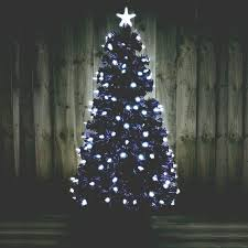 bright star lights christmas kingfisher 5ft black fibre optic christmas tree with bright white