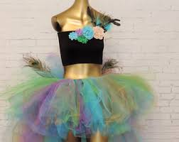 Peacock Halloween Costume Women Peacock Tutu Etsy