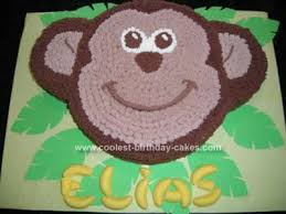 coolest monkey birthday cake design