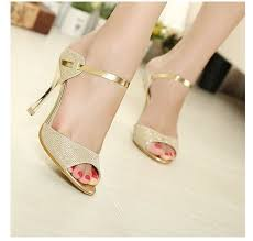wedding shoes gold color sandal shoe picture more detailed picture about summer style