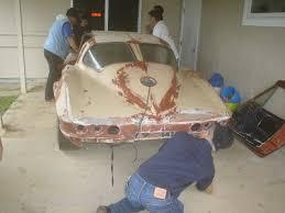 corvette fiberglass repair 1963 corvette sting split window coupe restoration how to