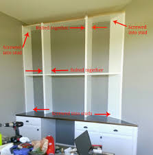 How To Make Bookcases Look Built In Diy Bookshelf How To Build Wall Mounted Bookshelves For Less Than