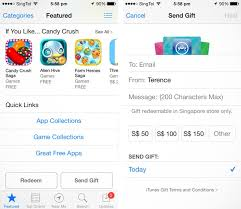 gift cards apps itunes gift card now available in singapore