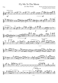 fly me to the moon flute sheet for trumpet musescore