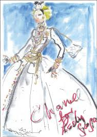 image of the night here u0027s karl lagerfeld u0027s sketch of the dress