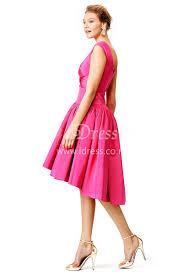 draped a line peony v neck knee length unique cocktail dress idress