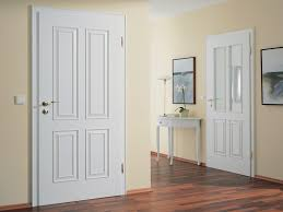 white interior front door with home interior design using white
