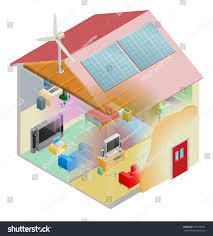Energy Efficient Home by Energy Efficient Home House Cavity Wall Stock Illustration
