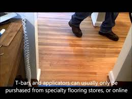 how to apply water based polyurethane with a t bar applicator