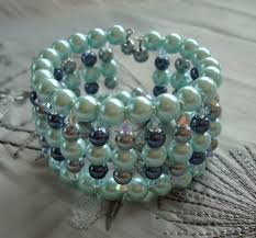 make bead bracelet wire images Memory wire bracelets using glass pearls and swarovski crystals jpg