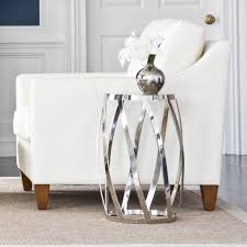 silver home decor nickel accent table ethan allen us design