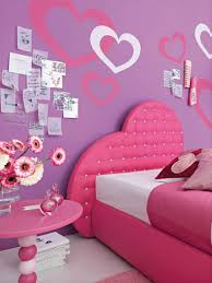Bedroom Appealing Girls Bedroom Decor With Purple Wall Paint