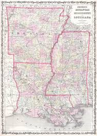 City Map Of Louisiana by File 1861 Johnson Map Of Mississippi Louisiana Arkansas