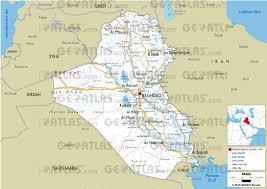 map of irak geoatlas countries iraq map city illustrator fully