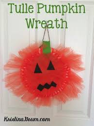 Halloween Tulle Wreath by Tulle Pumpkin Wreath Thriving Parents