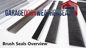 Overhead Roll Up Door by Brush Seal Overview Youtube