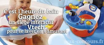 siege interactif vtech anneau pour le bain interactif à gagner jeux concours