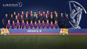 Award Winning B by The Fc Barcelona Infantil B Side Win Laureus Award U0027best Sporting