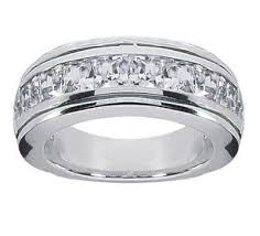 mens wedding band with diamonds 1 50 ct tw men s princess cut diamond wedding band ring in 18