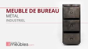 bureau m騁allique industriel meuble bureau industriel métal noir
