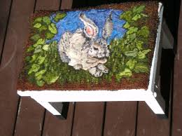 How To Make A Wool Rug With A Hook 150 Best Rug Hooked Stools Benches Images On Pinterest Step