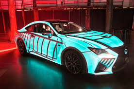 custom lexus rc f watch a 2015 lexus rc f light up in time with the driver u0027s pulse