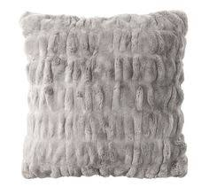 Pottery Barn Faux Fur Pillow Faux Fur Pillow Cover Gray Ombre Potterybarn For The Home