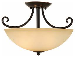 Traditional Lighting Fixtures Traditional Lighting Fixtures Rubbed Bronze Semi Flush