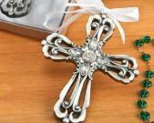 bomboniere coloured cross keyring communion confirmation