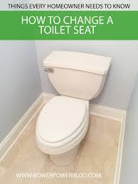 how to change a toilet seat bower power