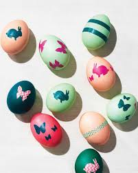 Easter Egs by Washi Tape Decorated Easter Eggs Martha Stewart