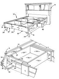 Diy Bedroom Furniture by Bedroom Astounding Bed Frame With Storage Diagrams For Diy