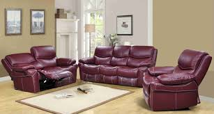 Leather Power Reclining Sofa Home Decor Alluring Reclining Sofa Sets And Langdon Burgundy