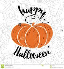 happy halloween vector lettering holiday calligraphy with spider