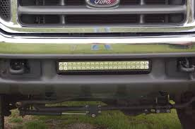 f250 led light bar a ford f250 with a 21 performance series led light bar mounted in