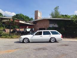 bagged mercedes wagon mercedes w124 e320 wagon lowered